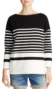 Vince Boatneck Nautical Striped Sweater