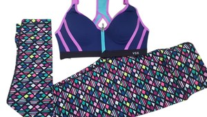 Victoria's Secret Victoria's Secret VSX purple sport Bra + Tight Workout SET Yoga