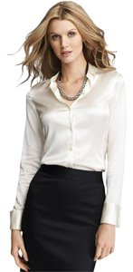 Ann Taylor Button Down Shirt Cream