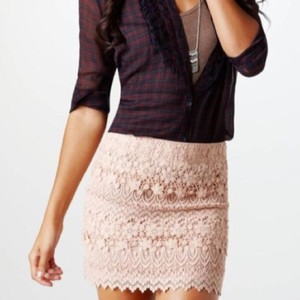 American Eagle Outfitters Mini Skirt Pink