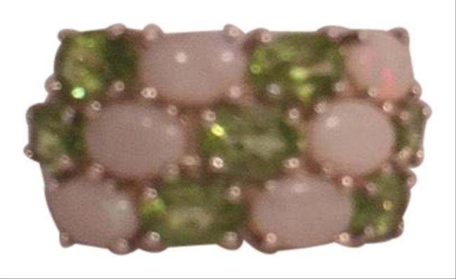 Item - Opal Green Silver 7 1/2'' Pave' Set & Period 925 Ring