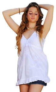 Lirome Casual Beach Summer Top White