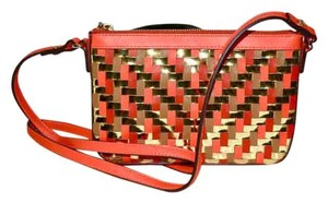 MILLY Woven Leather Mini Cross Body Bag