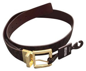 MICHAEL Michael Kors Reversible Logo Belt CHOCOLATE BROWN