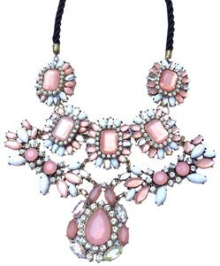 Pastel gems statement necklace