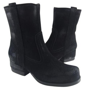 Antelope Black Brushed Suede Ankle Boots
