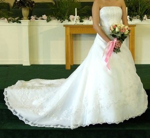 David's Bridal Style V8822 Wedding Dress