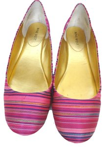 Nine West Stripe pink Flats