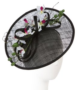 Giovanni Giovanni Fascinator Hat With Orchids