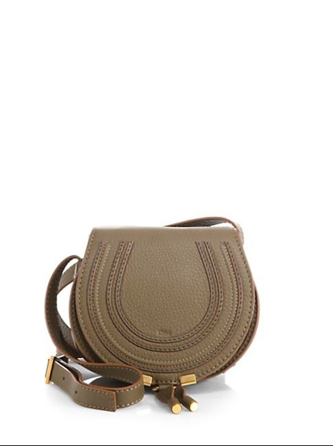 Item - Small Cross Body Beige/Gray Leather Shoulder Bag