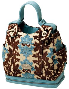 Petunia Pickle Bottom turquoise blue/chocolate Diaper Bag