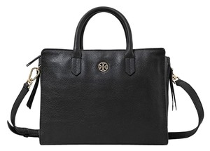 Tory Burch Leather Brody Tote in Black