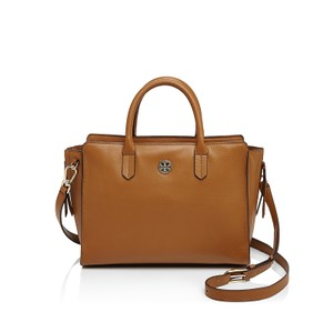 Tory Burch Leather Brody Tote in Bark