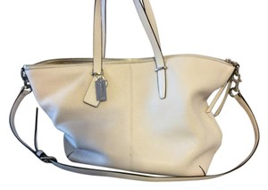 Coach Leather Silver Hardware Shoulder Bag