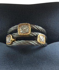 Charriol Flexible band size Philippe Charriol pave diamond ring