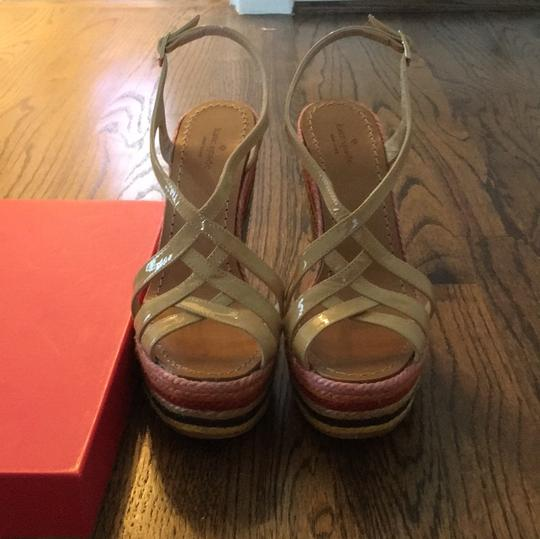Kate Spade Biscuit/ multi-colored Wedges Image 1