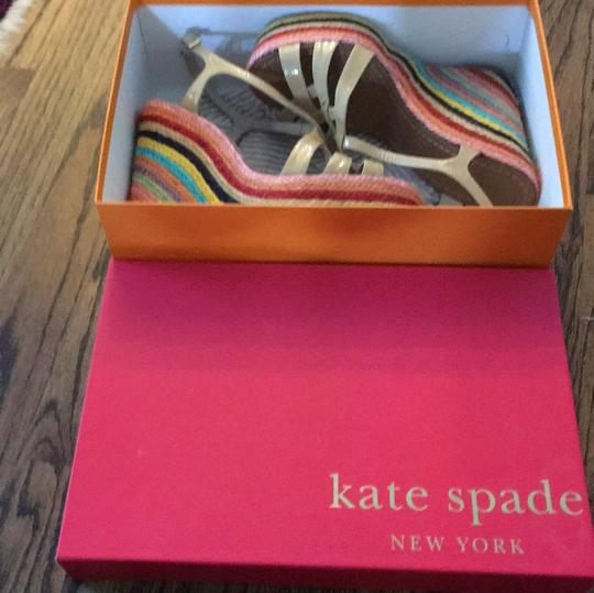 Kate Spade Biscuit/ multi-colored Wedges Image 5