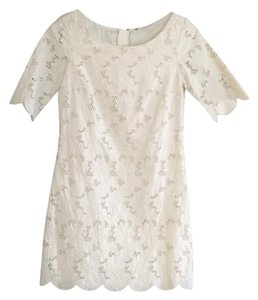 Massimo Dutti short dress Cream on Tradesy