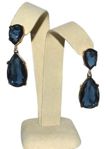 Kenneth Jay Lane Kenneth Jay Lane Teardrop Post Earrings ~ Turquoise with Goldtone hardware