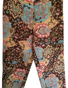 Ann Taylor LOFT Relaxed Pants Brown pink blue