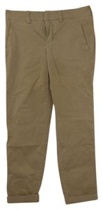 Vince Cropped Straight Pants Tan