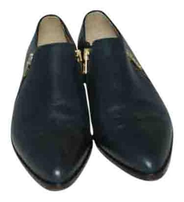 Item - Black 8 Made In Italy Leather Zip Slip On Loafer Flats Size US 6.5 Regular (M, B)