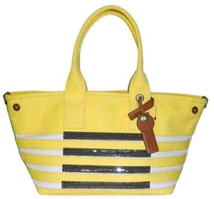 Marc by Marc Jacobs Sequin Mj Logo St Thick Cotton Tote in yellow
