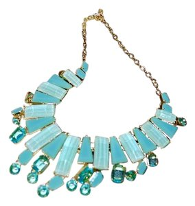 Kate Spade Kate Spade New York New *BEACH GEM* Bib Necklace 12K Gold Plated ~Turquoise