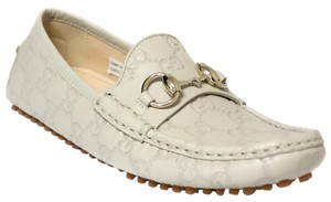 Gucci Horsebit Moccasin Leather Mystic White (Off White) Flats