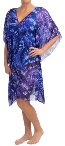 Miraclesuit Miraclesuit Purple Caftan Tunic Swimsuit Cover-Up