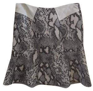 Yigal Azroul Skirt Creme and Charcoal
