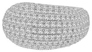 Avi and Co 2.45 cttw Round Cut Diamond Micro-Pave Dome Ring 18K White Gold