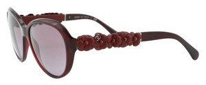 Chanel New Authentic Sunglasses CHANEL CH 5316Q Camellia Red Lambskin Flower RETAIL $550