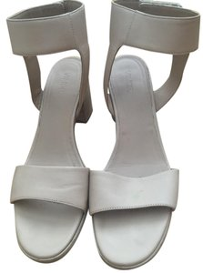 Vince Heel Evening Leather Nude Sandals