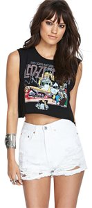 Forever 21 Cut Off Shorts White