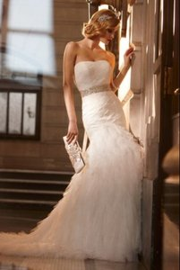 Galina Ivory Tulle (With Preservation Box) Swg523 Modern Wedding Dress Size 4 (S)