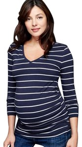 Gap Pure Body Stripe V-neck Long Sleeve Maternity Top