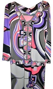 Emilio Pucci V-neck 3/4 Sleeve Mod Dress