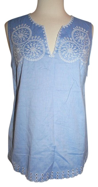 Preload https://img-static.tradesy.com/item/16436695/jcrew-blue-embroidered-circles-sleeveless-in-french-tank-topcami-size-2-xs-0-1-650-650.jpg