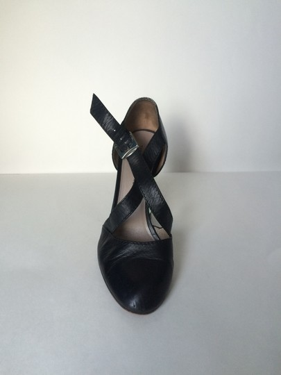 Marc by Marc Jacobs Leather Sandals With Lucite Heel Black Pumps