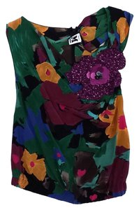 Missoni Multi Color Floral Silk Sequin Top