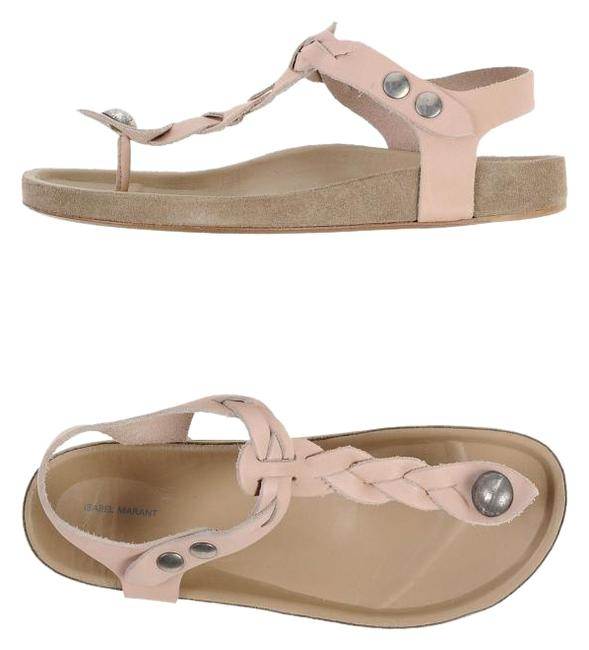 Item - Pale Pink Braided Leather New Or Eu 38 Sandals Size US 7.5 Regular (M, B)