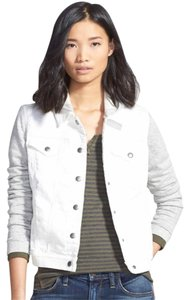 Hinge Denim White and Gray Womens Jean Jacket