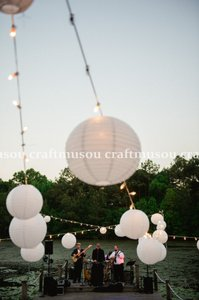70 Round Chinese Paper Lantern Set With Led Lights [10x18