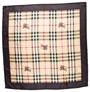 Burberry Beige, brown, black multicolor Burberry Haymarket Nova Check plaid silk scarf