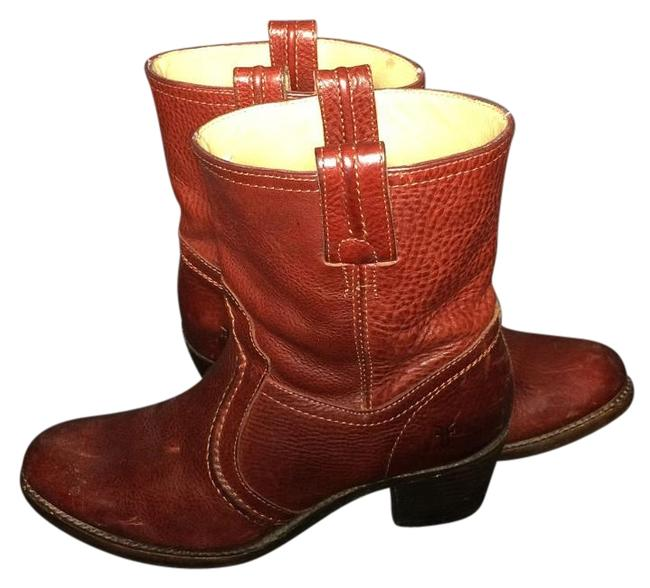 Item - Red 76400 Jane Trapunto Leather Motorcycle Boots/Booties Size US 8 Regular (M, B)