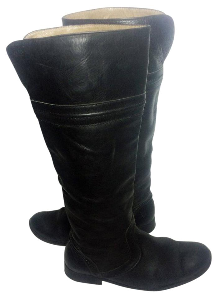 45b7704ed54 Frye Black 76442 Melissa Trapunto Leather Motorcycle Women's Boots/Booties  Size US 8 Regular (M, B) 44% off retail