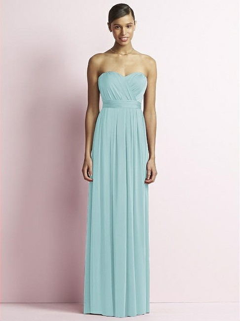 Item - Canal Blue Jersey Jy503 Formal Bridesmaid/Mob Dress Size 10 (M)