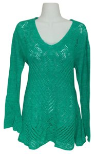 Style & Co Pointelle-knit V-neck Sweater Tunic