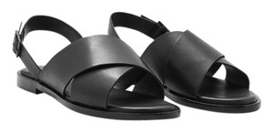 COS Leather Crossover black leather Sandals